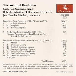 Youthful Beethoven back CD